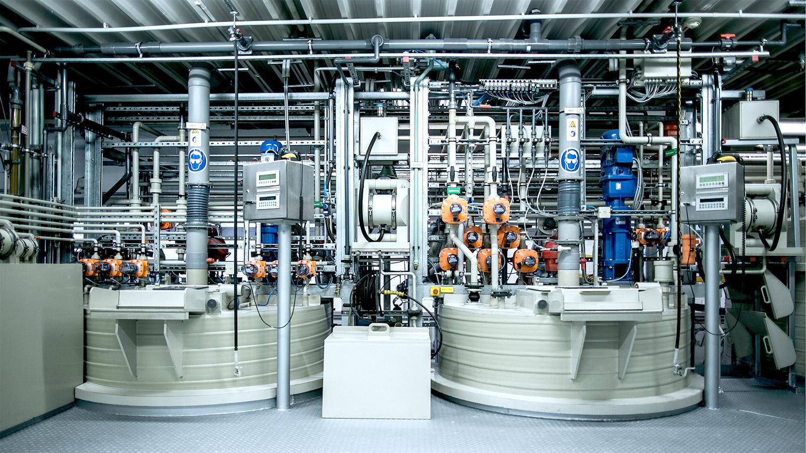 Chemischer Reaktor, Chemische Herstellung, Chemische Manufaktur, Chemische Verfahren